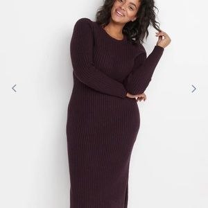Marine Layer Ribbed Sweater Dress Port Royal Large